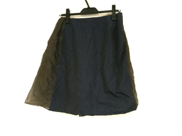 kolor(カラー) スカート サイズ1 S レディース ネイビー×カーキ