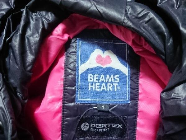BEAMSHEART(ビームスハート) ダウンベスト サイズ1 S レディース美品  黒 冬物