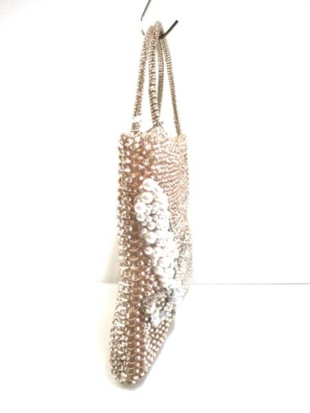 アンテプリマ ハンドバッグ美品  ワイヤーバッグ ライトブラウン×白×マルチ