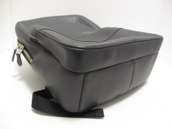 コーチ リュックサック美品  ハミルトン ペブルド レザー バックパック F72082 黒