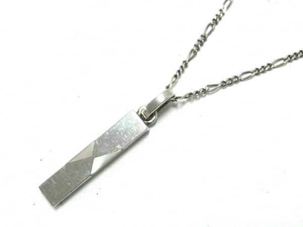 AQUA SILVER(アクアシルバー) ネックレス美品  シルバー×ホワイトシェル