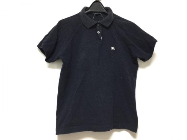 バーバリーロンドン 半袖ポロシャツ サイズS レディース ダークネイビー