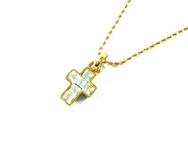 AGATHA(アガタ) ネックレス新品同様  金属素材×ラインストーン ゴールド×クリア