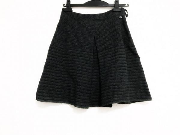 CHANEL(シャネル) ミニスカート サイズ36 S レディース美品  カーキ×ネイビー