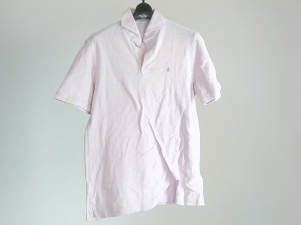 Guy Rover(ギローバー) 半袖ポロシャツ サイズS メンズ美品  ピンク 刺繍