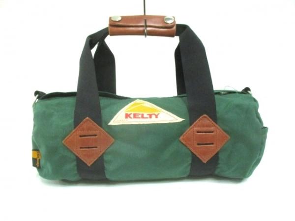 KELTY(ケルティ) ハンドバッグ グリーン×ブラウン×マルチ ナイロン