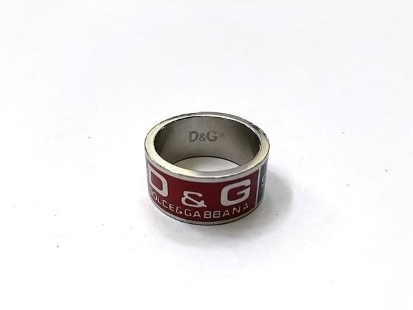 D&G(ディーアンドジー) リング美品  金属素材 シルバー×レッド×ネイビー
