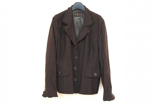 エヴェックスバイクリツィア コート サイズ46 XL レディース美品  ダークブラウン