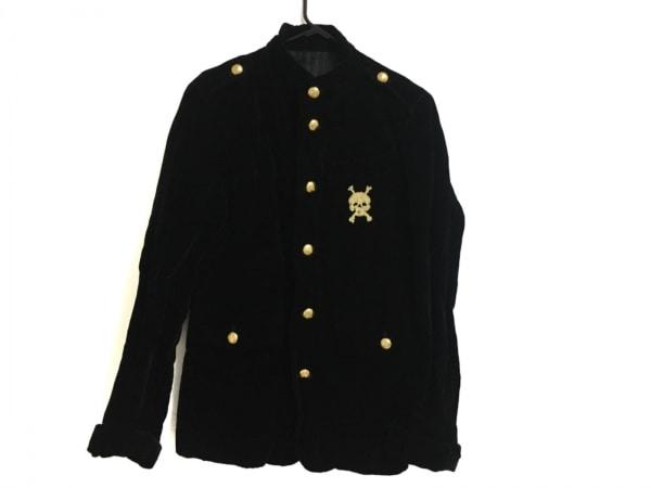 RICO(リコ) ジャケット サイズL メンズ 黒×ゴールド ベロア