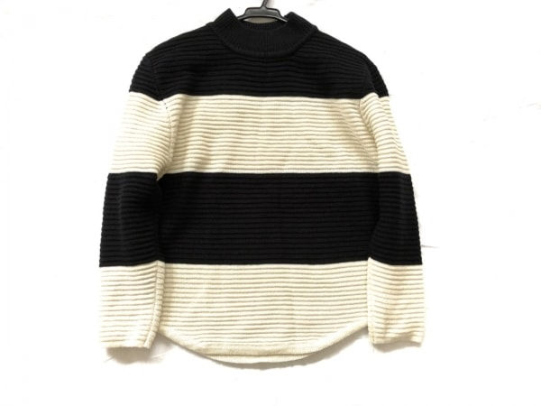 UNIF(ユニフ) 長袖セーター サイズXS レディース美品  アイボリー×黒 ボーダー