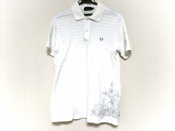 FRED PERRY(フレッドペリー) 半袖ポロシャツ サイズ0 XS メンズ 白×シルバー