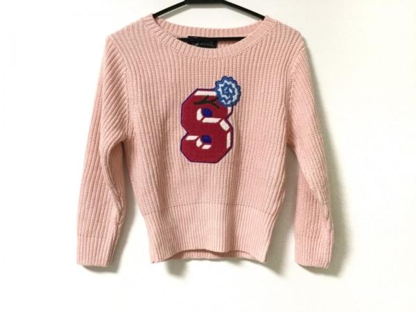 sretsis(スレトシス) 長袖セーター サイズ36 S レディース ピンク×ブルー×マルチ