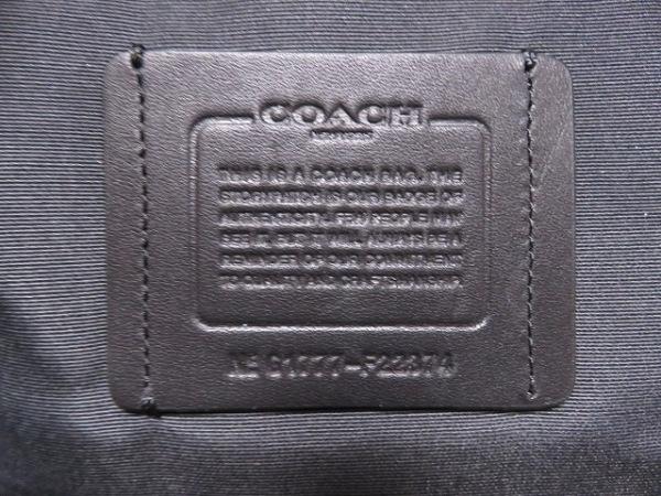 COACH(コーチ) リュックサック F22374 黒×デニムグラファイト ナイロン×レザー