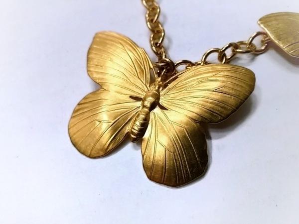 KENNETH JAY LANE(ケネスジェイレーン) ネックレス美品  金属素材 ゴールド 蝶/2連