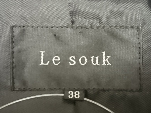 Le souk(ルスーク) コート サイズ38 M レディース 黒 冬物/ショート丈