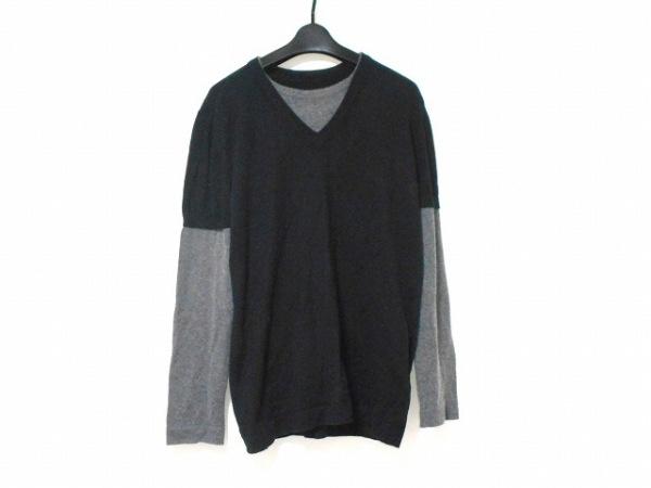 Y-3(ワイスリー) 長袖セーター メンズ 黒×グレー