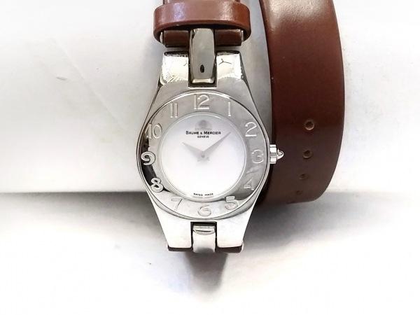 ボーム&メルシエ 腕時計 リネア 65305 レディース 革ベルト・2連 シルバー