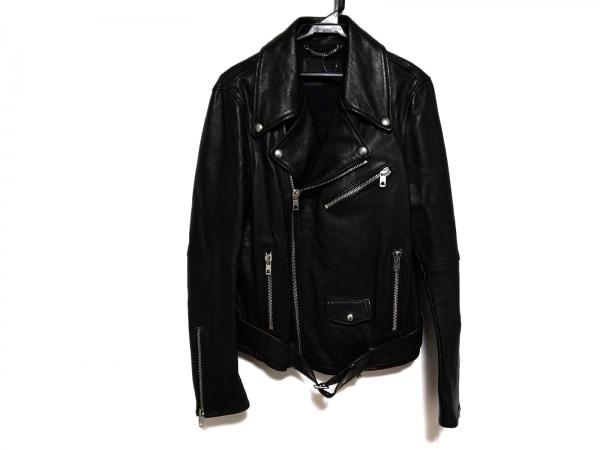 ディーゼルブラックゴールド ライダースジャケット サイズ46 XL レディース美品  黒