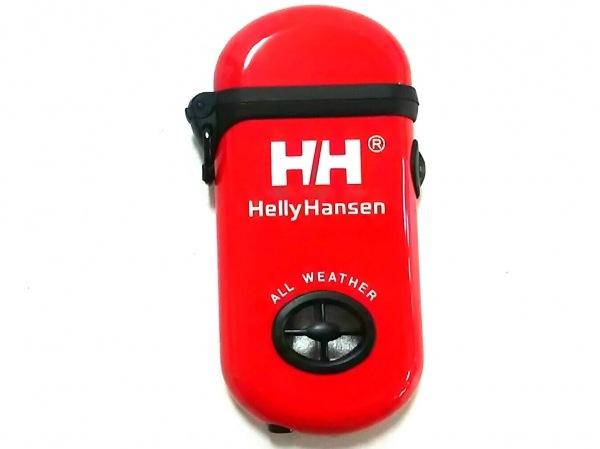 HELLY HANSEN(ヘリーハンセン) ライター美品  レッド×黒×白 プラスチック