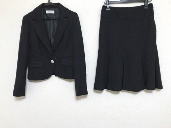 anySiS(エニシス) スカートスーツ サイズ3 L レディース 黒 ラインストーン