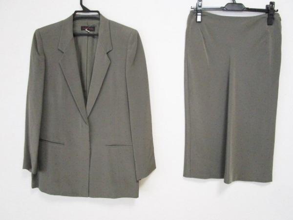 YOSHIE INABA(ヨシエイナバ) スカートスーツ サイズ9 M レディース ダークグリーン