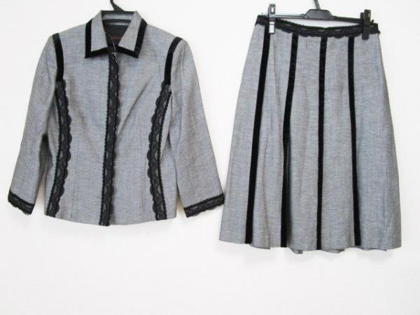 YOSHIE INABA(ヨシエイナバ) スカートスーツ レディース グレー×黒
