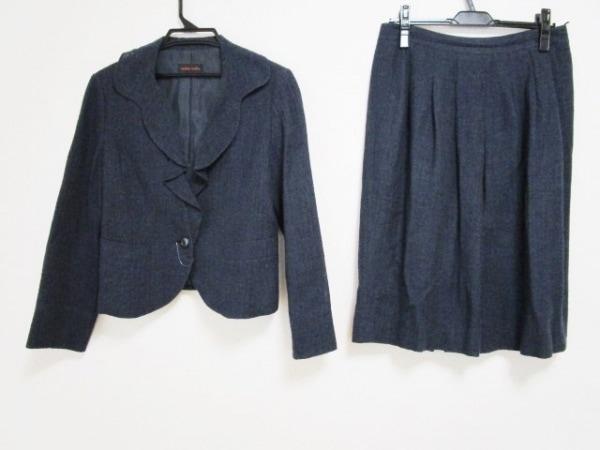 YOSHIE INABA(ヨシエイナバ) スカートスーツ サイズ11 M レディース ネイビー