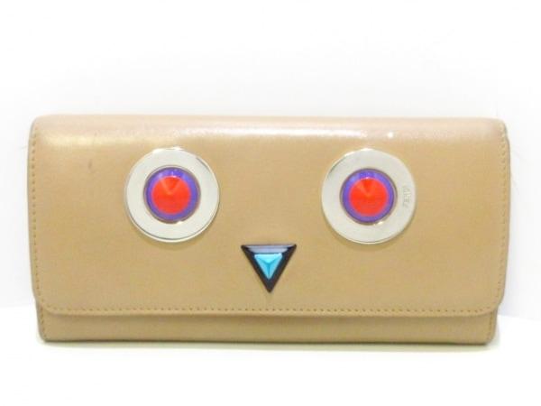 525000ae249c FENDI(フェンディ) 長財布 モンスター 8M0251 ライトブラウン レザーの ...