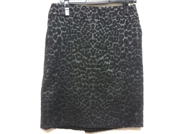 トゥルートラサルディ スカート レディース美品  ダークグレー×黒 豹柄