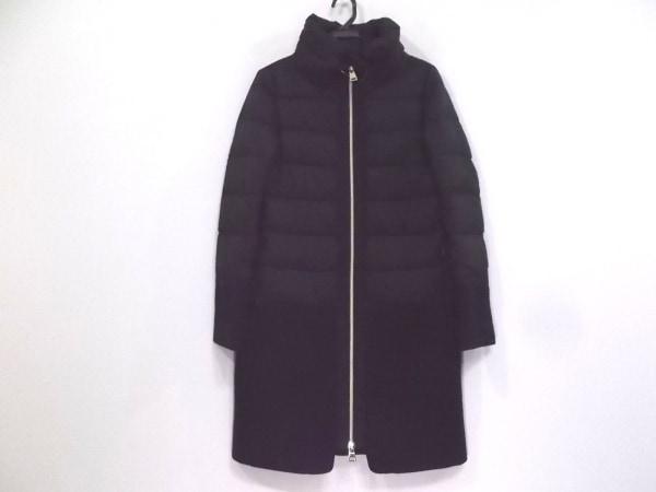 HERNO(ヘルノ) ダウンコート サイズ40 M レディース美品  黒×ダークネイビー 冬物