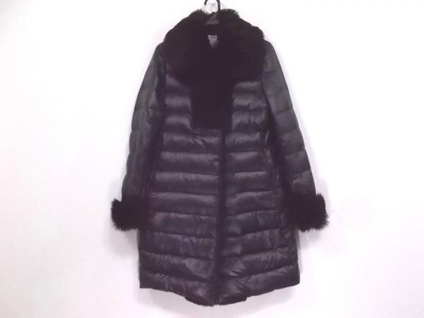 EMMETI(エンメティ) ダウンコート サイズ38 M レディース新品同様  黒 冬物/ムートン