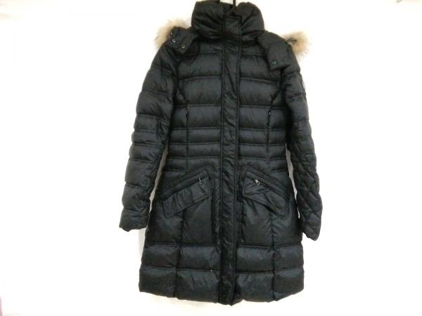 HETREGO(エトレゴ) ダウンコート サイズ40 M レディース 黒 冬物/ファー