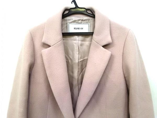 Rouge vif(ルージュヴィフ) コート サイズ36 S レディース ピンクベージュ 冬物
