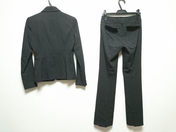 ベアトリス レディースパンツスーツ サイズ38 M レディース 黒×白 ストライプ