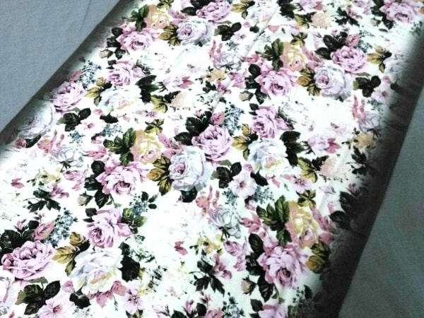 PaulSmith(ポールスミス) スカーフ新品同様  グレー×ピンク 花柄 コットン×シルク