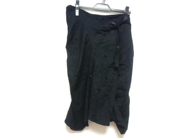 gomme(ゴム) スカート レディース 黒 刺繍