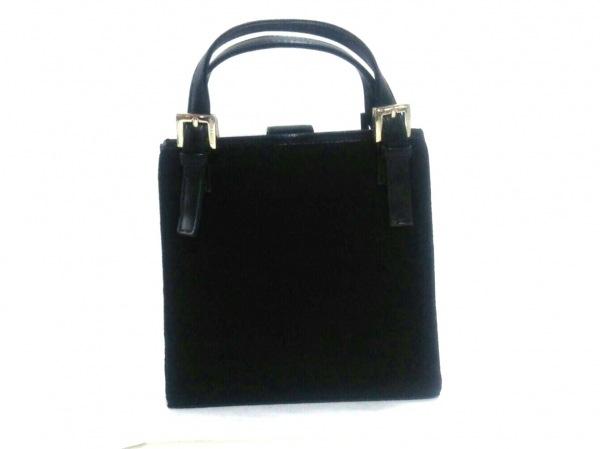 NINARICCI(ニナリッチ) トートバッグ美品  黒 ジャガード×合皮