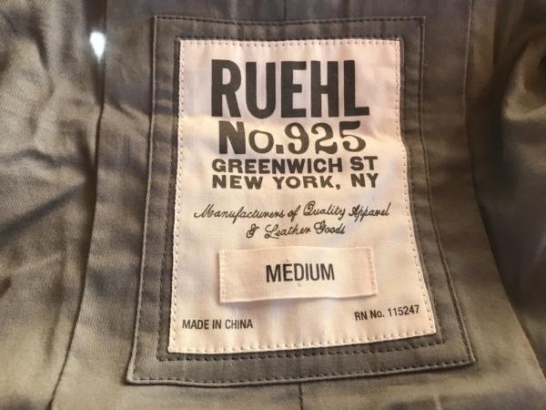 RUEHL No.925(ルール) コート サイズM レディース美品  ライトグレー 冬物