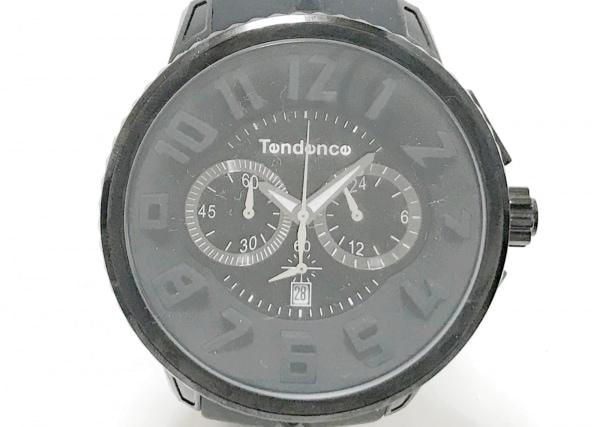 TENDENCE(テンデンス) 腕時計 TG460010 メンズ ラバーベルト/クロノグラフ 黒