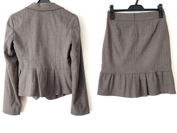 マックス&コー スカートスーツ サイズ36 S レディース美品  ダークブラウン×ブラウン