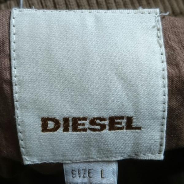 DIESEL(ディーゼル) ブルゾン サイズL メンズ ベージュ レザー