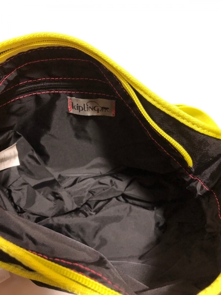 Kipling(キプリング) ショルダーバッグ美品  黒×イエロー ナイロン