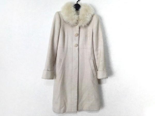アプワイザーリッシェ コート サイズ2 M レディース アイボリー 冬物/ファー/ラメ