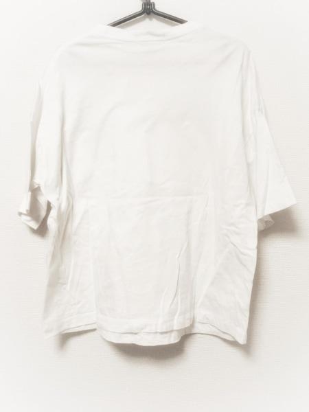 Gymphlex(ジムフレックス) 半袖Tシャツ サイズ12 L レディース 白×ライトブルー 刺繍