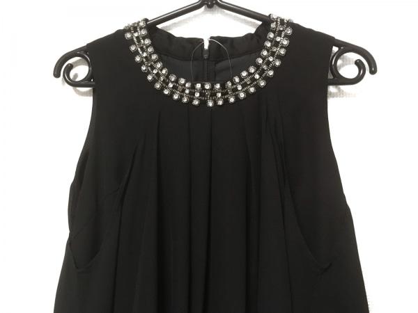 COMME CA ISM(コムサイズム) ドレス サイズM レディース美品  黒 ビジュー