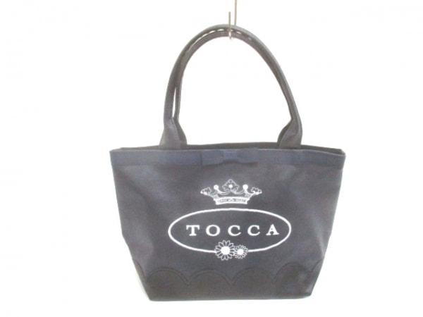 TOCCA(トッカ) トートバッグ 黒 リボン レザー