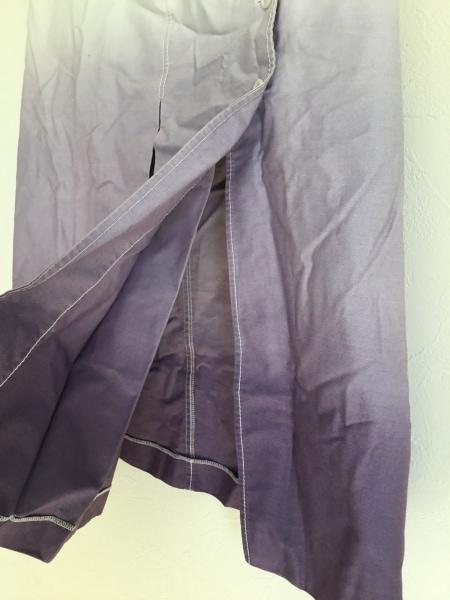 PRADA(プラダ) スカート サイズ40 M レディース 白×パープル