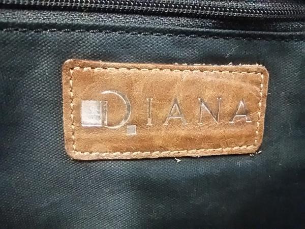 DIANA(ダイアナ) ハンドバッグ グレー×ダークブラウン レザー