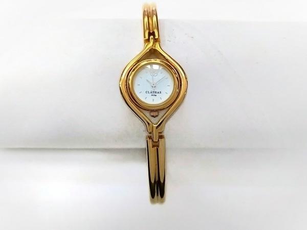 【中古】 クレイサス CLATHAS 腕時計 - レディース 白