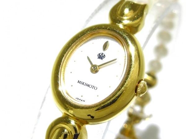 mikimoto(ミキモト) 腕時計 1E20-3030 レディース パールベルト 白